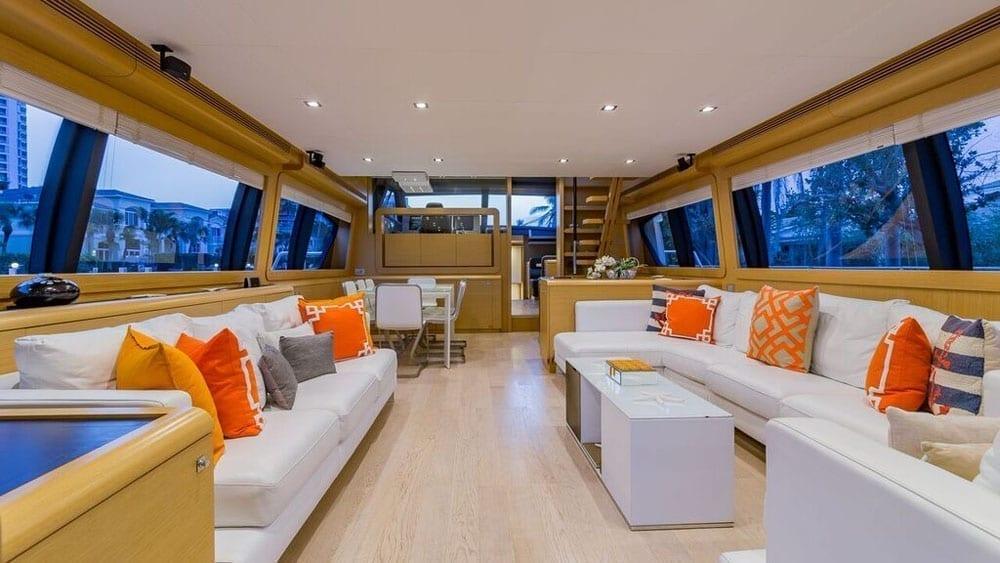 Miami Yacht Rentals 80' Ferretti Salon