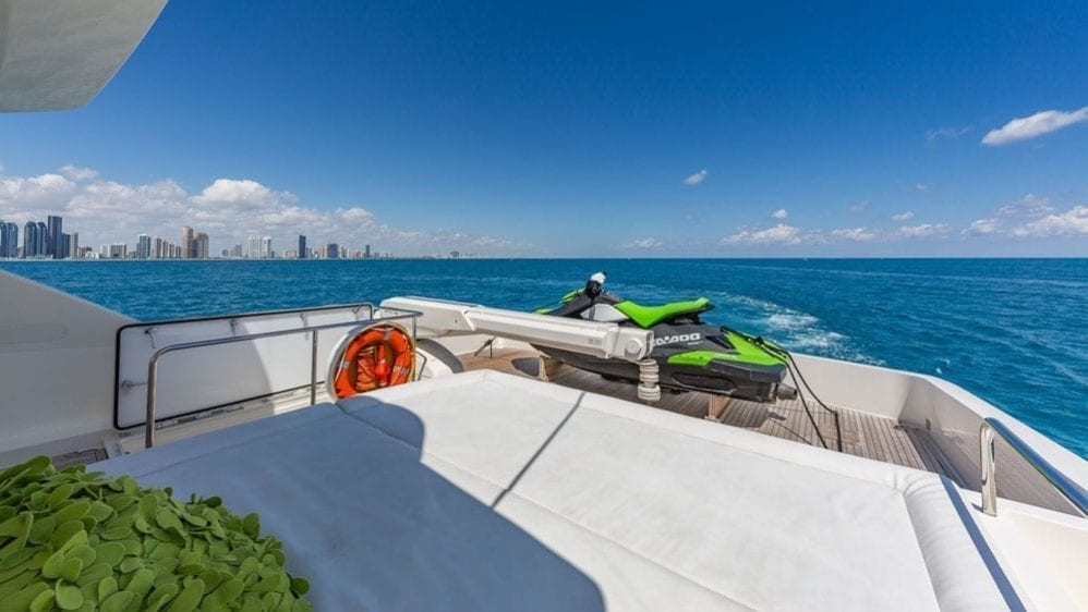 Miami Yacht Rentals 80' Ferretti Upper Deck with Jet Ski