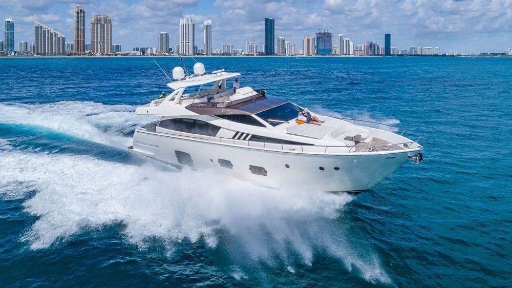 Miami Beach yacht charter 80' Ferretti