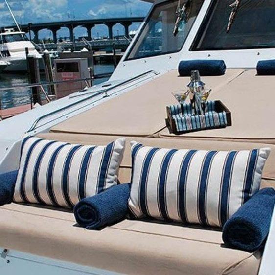 Miami Yacht Rentals 80' Hatteras Bow Lounge
