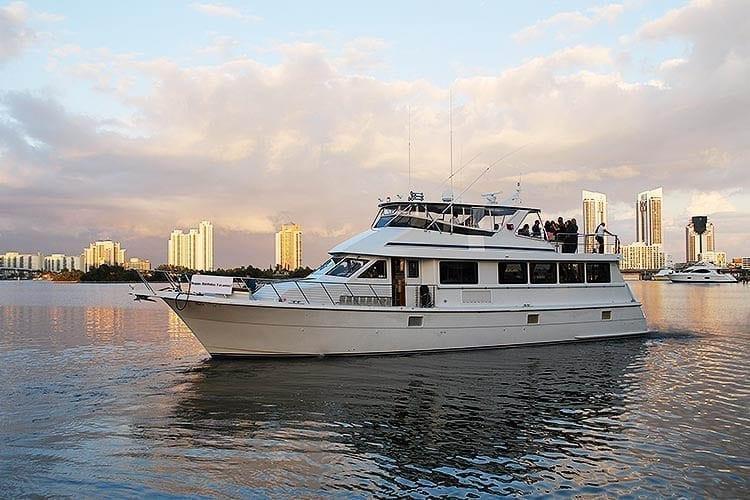Miami Yacht Rentals 80' Hatteras Portside