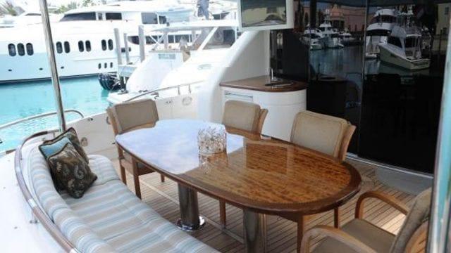 Miami Yacht Rentals 84' Lazzara Aft Dining