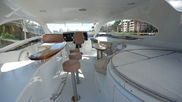 Miami Yacht Rentals 84' Lazzara Upper Deck 2
