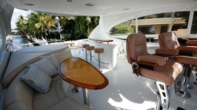 Miami Yacht Rentals 84' Lazzara Upper Deck 3