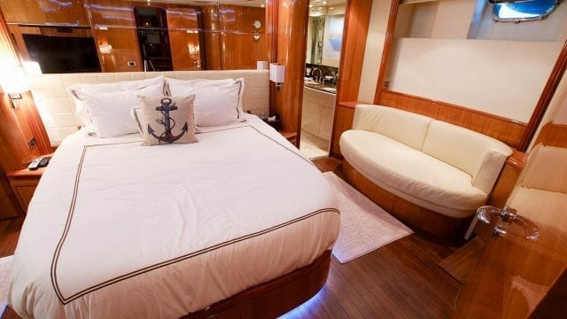 Miami Yacht Rentals 86' Azimut Master Stateroom