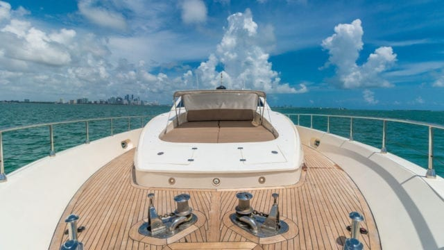 Miami Yacht Rentals 92' Leopard Bow Lounge