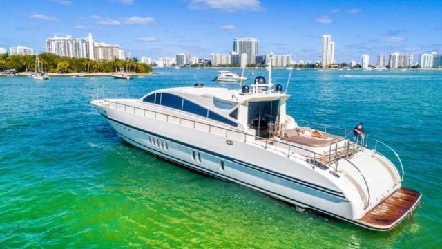 Miami Yacht Rentals 92' Leopard Portside