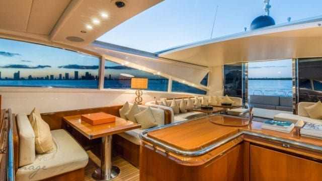 Miami Yacht Rentals 92' Leopard Salon 2