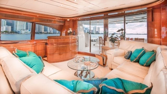 Miami Yacht Rentals 94' Ferretti Salon
