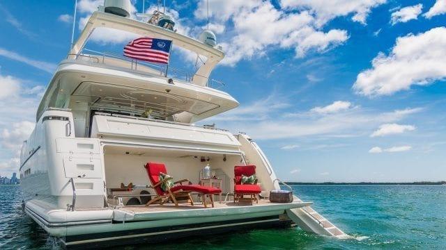Miami Yacht Rentals 94' Ferretti Stern