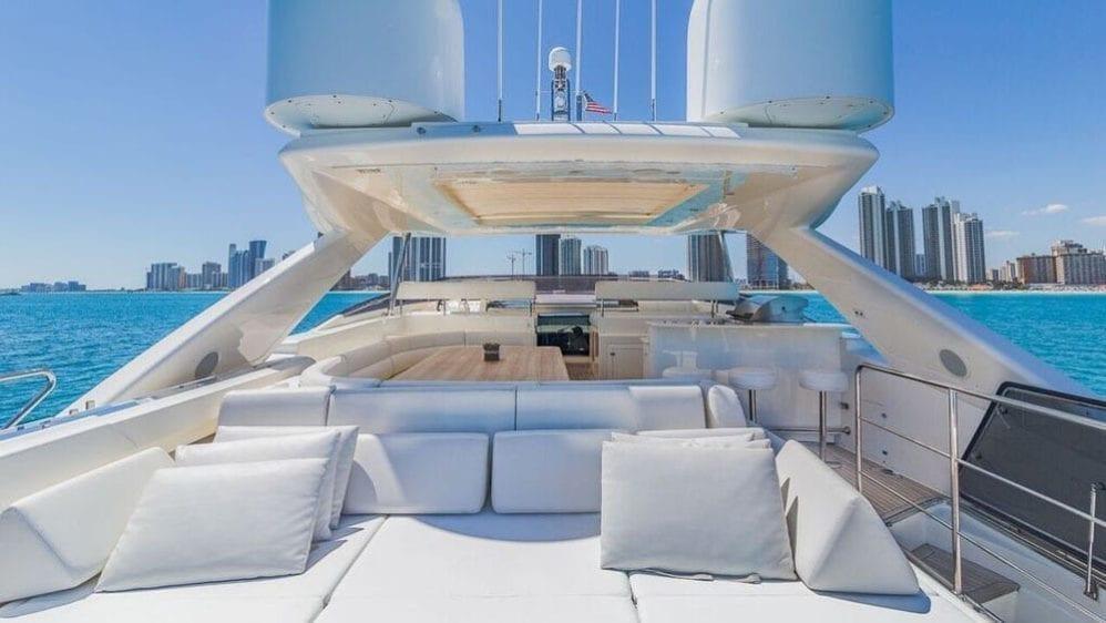 Miami Yacht Rentals 97' Ferretti Upper Deck