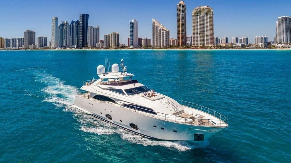 Miami Beach Yacht Rentals 97' Ferretti