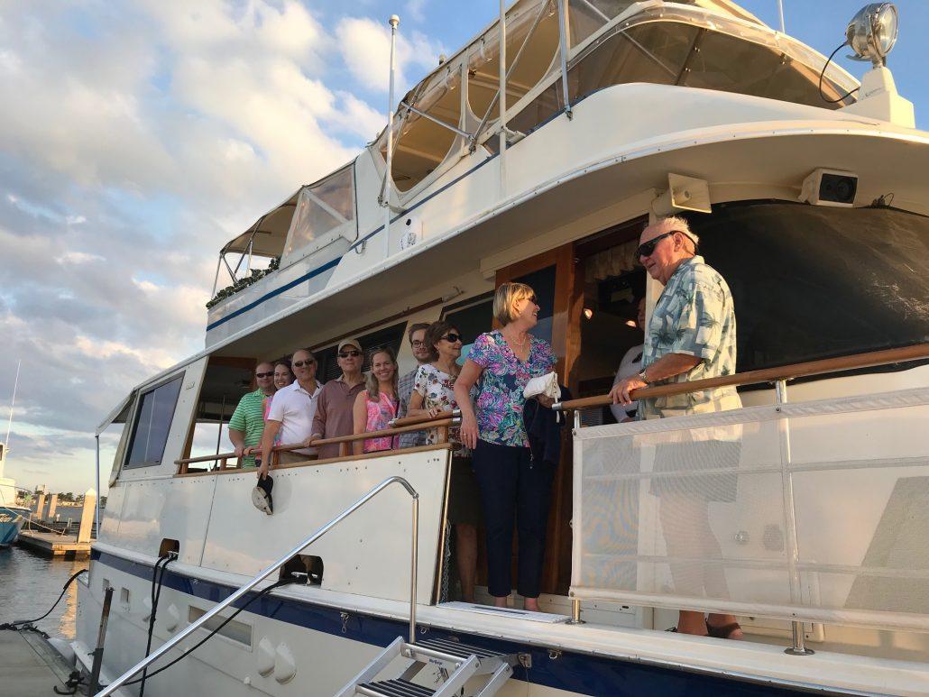 Naples yacht charter boarding