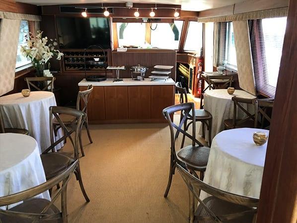 Naples yacht charter main salon