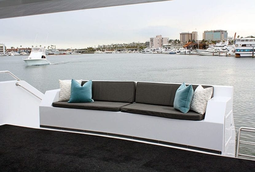 Newport Beach Yacht Rentals 100' Dittmar Stern Couch