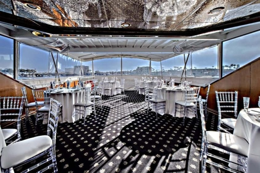 Newport Beach Yacht Rentals 100' Skipperliner Tables Set