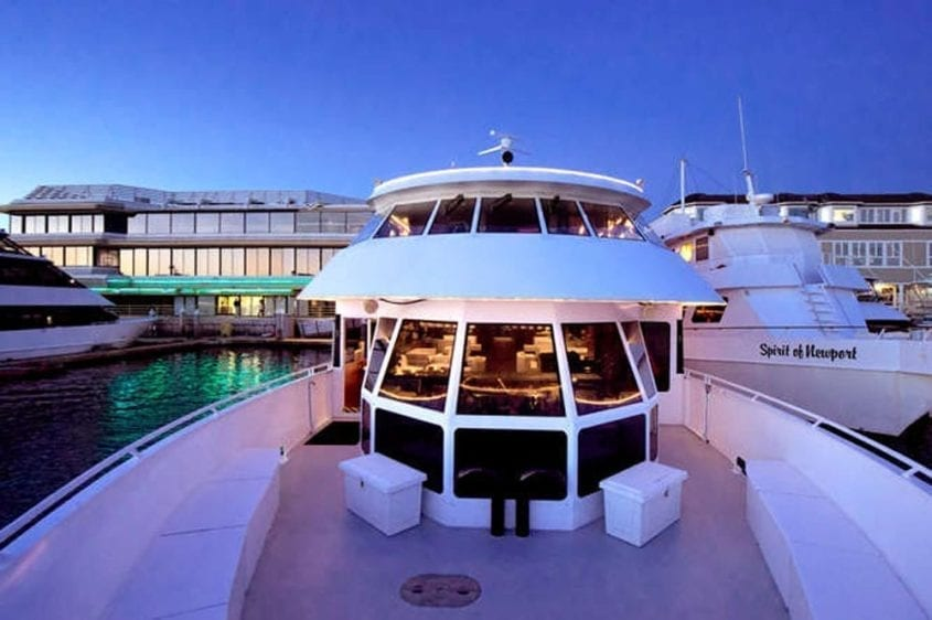 Newport Beach Yacht Rentals 128' Skipperliner Bow