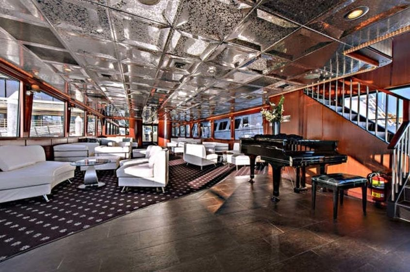 Newport Beach Yacht Rentals 128' Skipperliner Piano Room