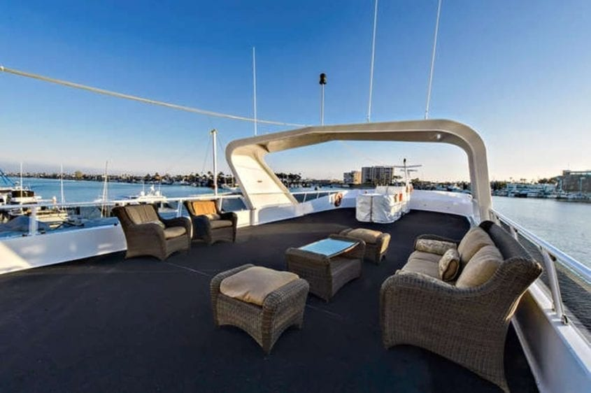 Newport Beach Yacht Rentals 128' Skipperliner Upper Deck 2