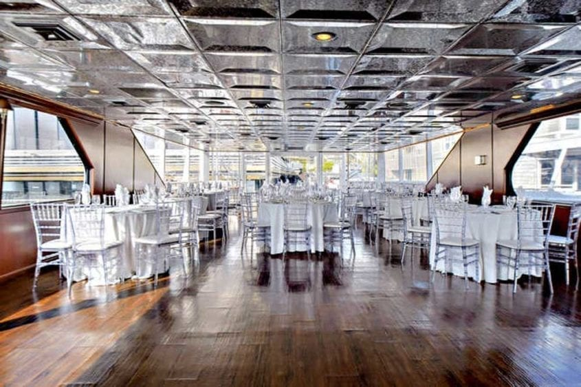 Newport Beach Yacht Rentals 128' Skipperliner Wedding Setup