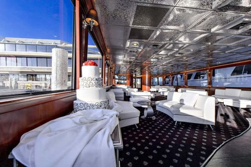 Newport Beach Yacht Rentals 128' Skipperliner Wedding Cake
