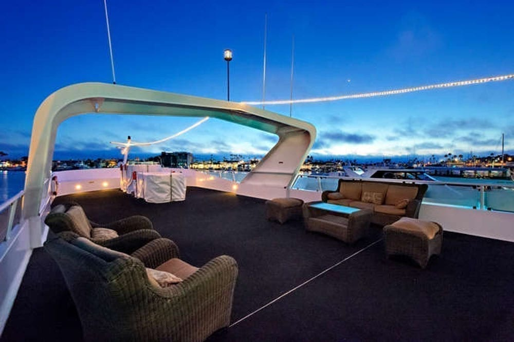 Newport Beach luxury charters 128' Skipperliner