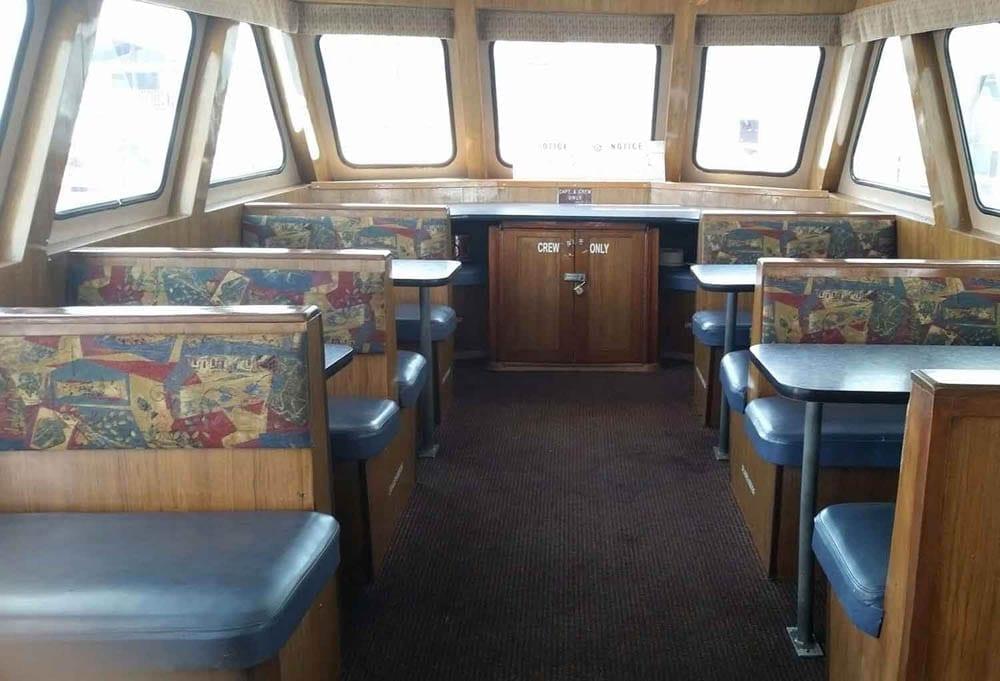 Newport Beach charter yacht 65' Explorer Interior Seating