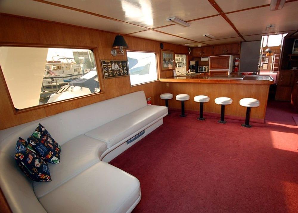 charter yacht newport beach 65' Willard Bar