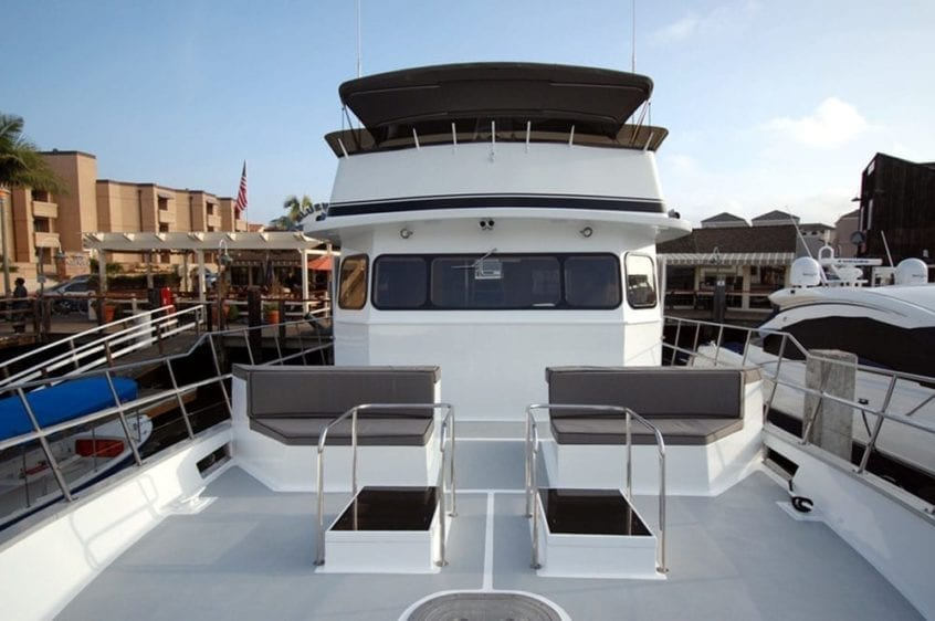 Newport Beach Yacht Rentals 65' Willard Forward Seating