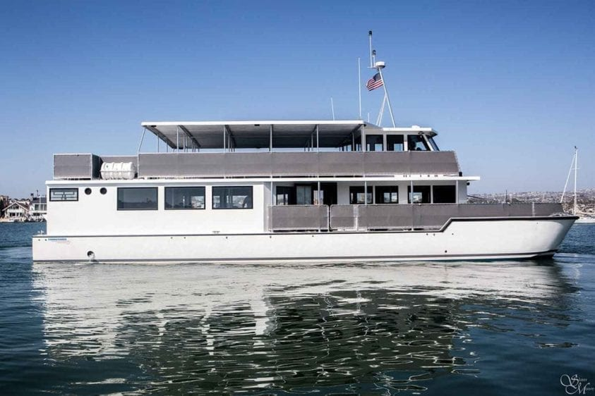 Newport Beach Yacht Rentals 72' Corinthian Profile