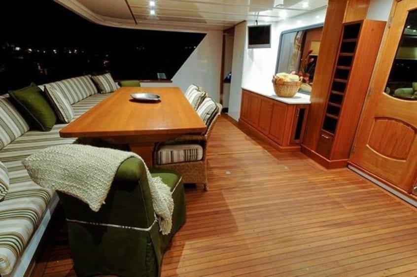 San Diego Yacht Rentals 115' Christensen Aft Seating