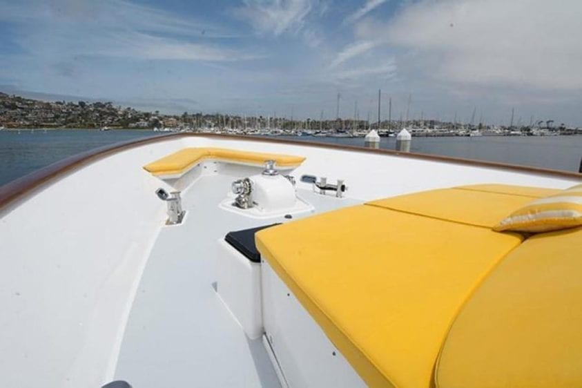 San Diego Yacht Rentals 115' Christensen Bow Seating 2