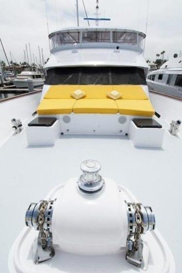 San Diego Yacht Rentals 115' Christensen Bow Seating