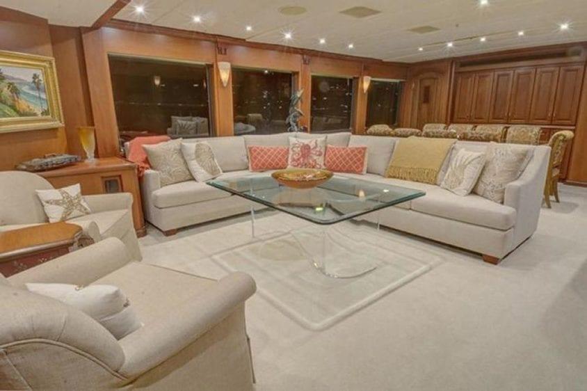 San Diego Yacht Rentals 115' Christensen Salon Couches