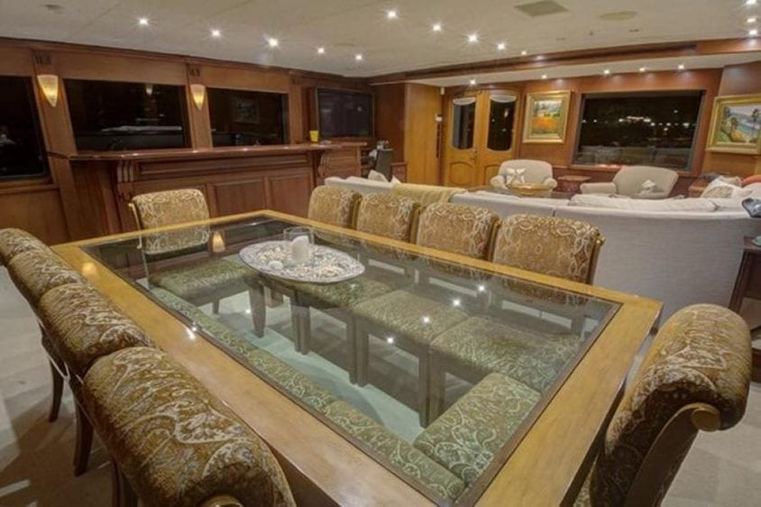 San Diego Yacht Rentals 115' Christensen Salon Dining