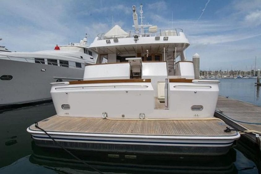 San Diego Yacht Rentals 115' Christensen Stern with Swim Step