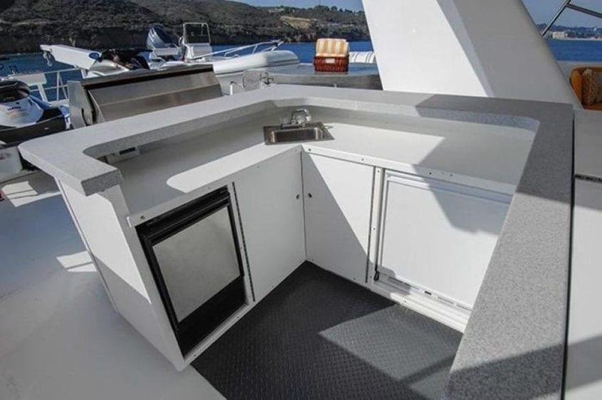 San Diego Yacht Rentals 115' Christensen Upper Deck Bar
