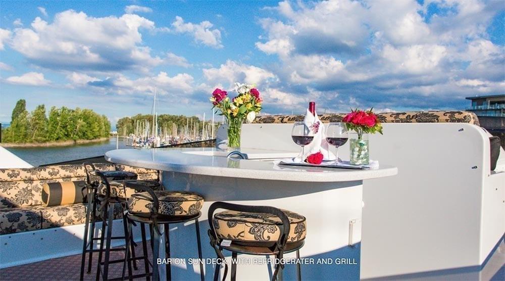 San Diego Yacht Rentals 118' Westport Bar on Upper Deck
