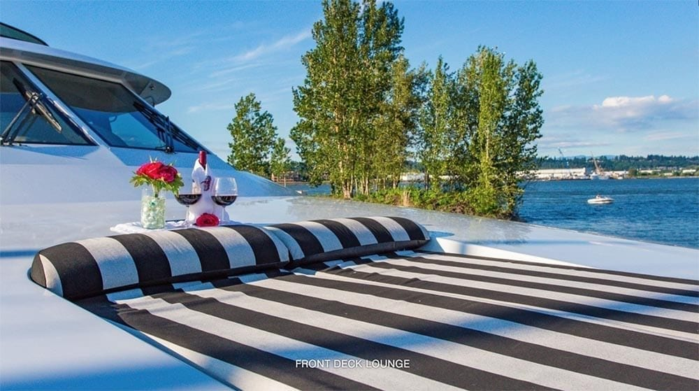 San Diego Yacht Rentals 118' Westport Bow Lounge