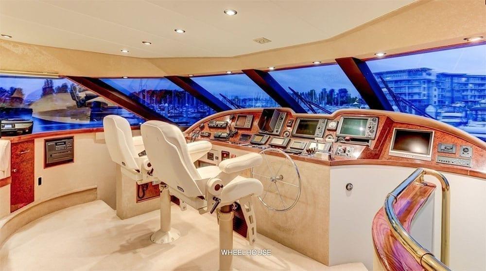 San Diego Yacht Rentals 118' Westport Helm Station