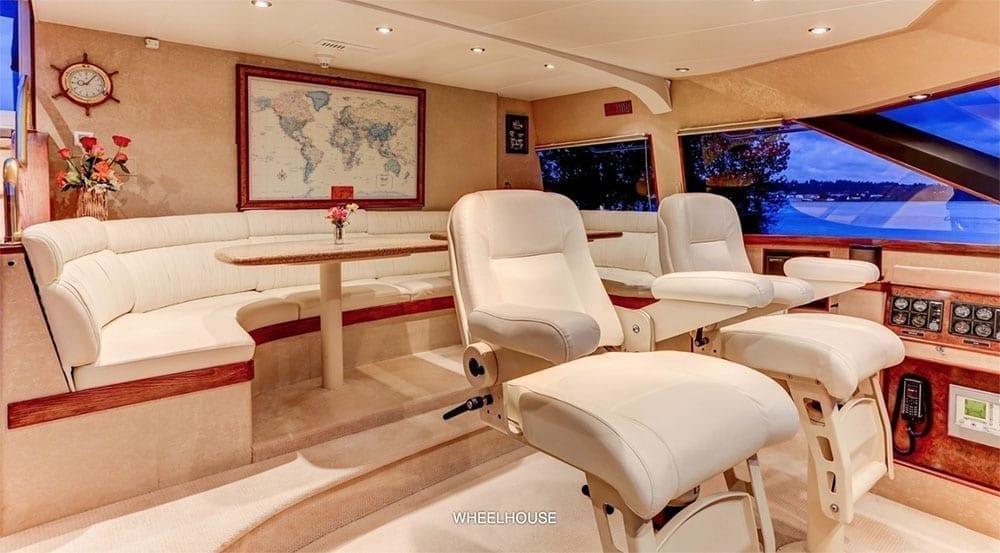 San Diego Yacht Rentals 118' Westport Helm Station 2