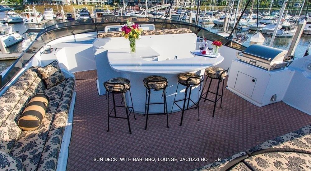 San Diego Yacht Rentals 118' Westport Sun Deck