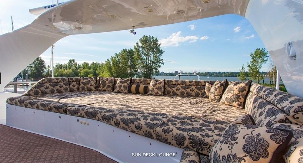 San Diego Yacht Rentals 118' Westport Sun Deck Lounge