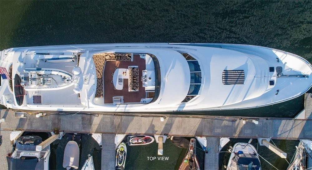 San Diego Yacht Rentals 118' Westport Top View