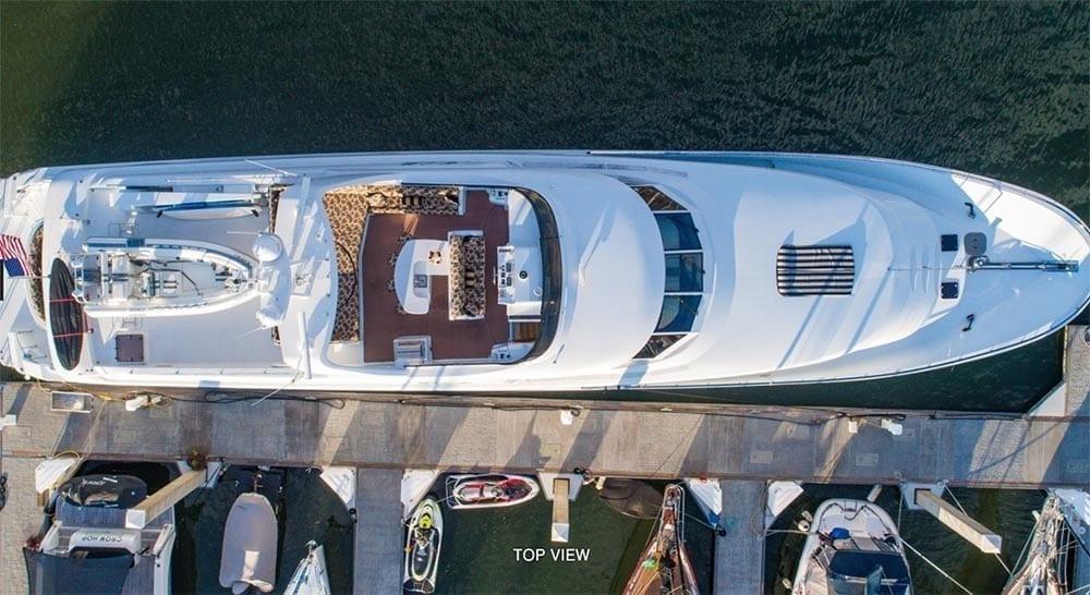 San Diego Yacht Rentals 118' Westport Top View