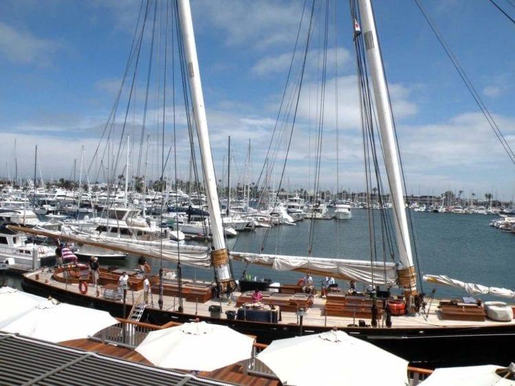 San Diego Yacht Rentals 139' America Dockside