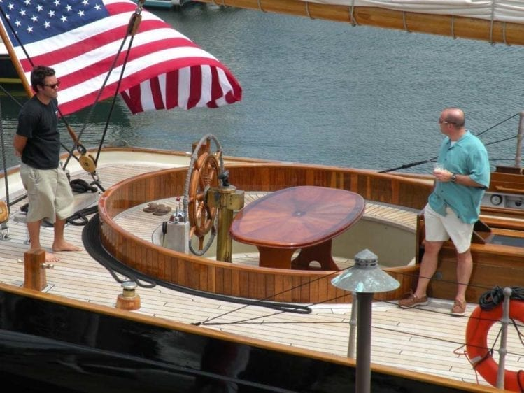 San Diego Yacht Rentals 139' America Helm