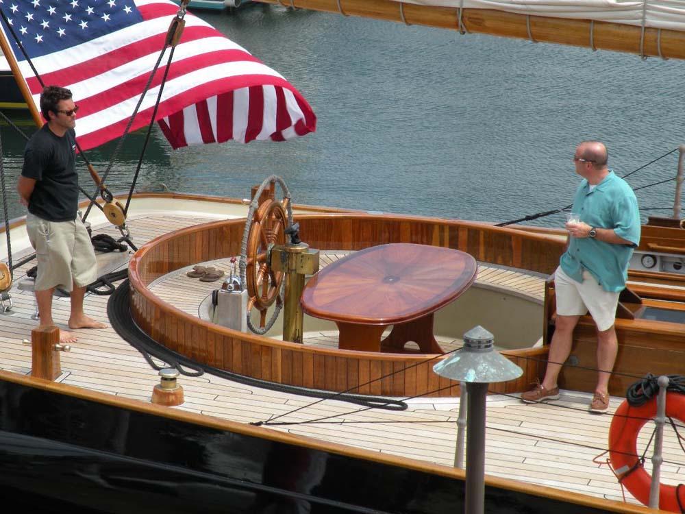 San Diego sailing Yacht 139' America Helm