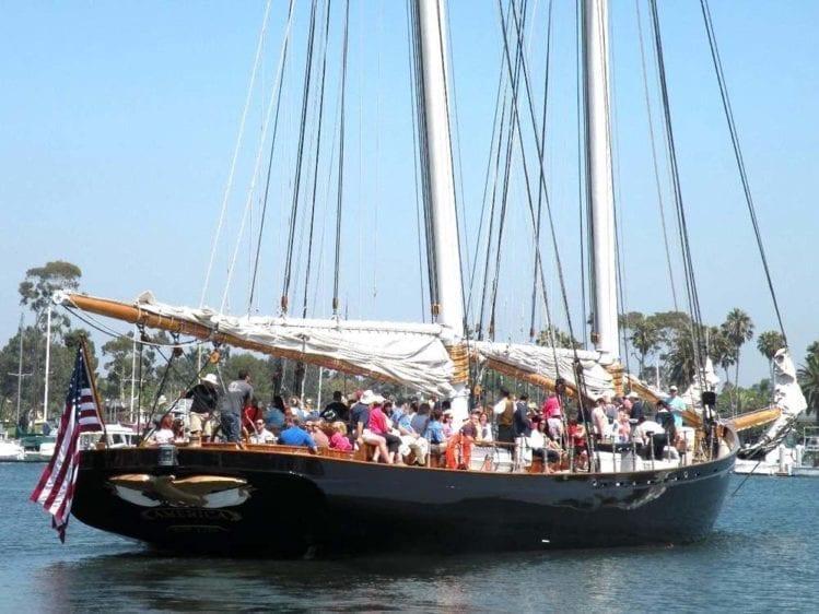 San Diego Yacht Rentals 139' America Starboard