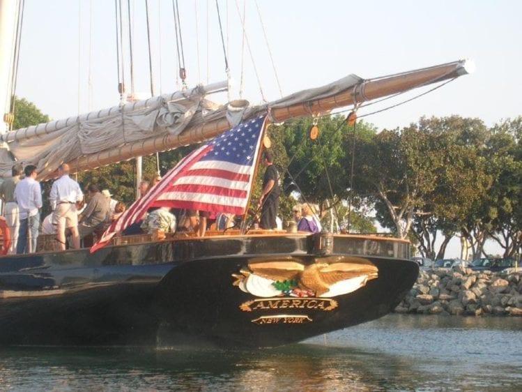 San Diego Yacht Rentals 139' America Stern